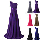 2014 ON SALE One Shoulder Prom Gown Bridesmaid Formal Evening Bridal Long Dress