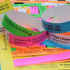 ID WRISTBANDS: LOT Personalised for School Outings, Scouts, Brownies, Events.