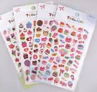 Food & Joy Your Choice of Design Puffy Sticker Sheet~KAWAII!!