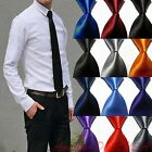 Внешний вид - Hot! Solid Plain Classic 100%New Silk Jacquard Woven Necktie Men's Tie