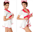 Fashion Sexy Women Naughty Nurse Costume Red Cross Pin Up Lingerie Outfit Dress