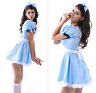 Fashion Women 3 Piece Sexy Alice in Wonderland Flirt Outfit Fancy Dress Costume