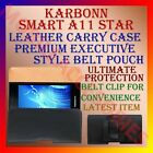 BELT CASE for KARBONN SMART A11 STAR MOBILE LEATHER CARRY POUCH RICH COVER CLIP