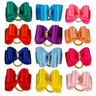 20/50/100pcs Ribbon Pet Dog Hair Bows Rubber Bands Yorkie Accessories Grooming