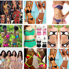 Sexy Women Beach Bandage Push-up Padded Bra Bikini Suit Swimsuit Swimwear Set