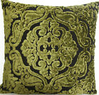 Green Cushion Cover Designers Guild Fabric Pillow Case Velvet Fioravanti