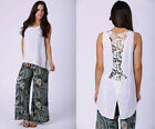 FILO Lace Back Detail Singlet Top Brand New With Tags SIZES 8 10 12 14 16 18