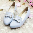 Womens Chic Bowknot Pointed Toe Flat Pumps Court Loafers Moccasin Ballets Shoes