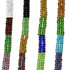 Economy Faceted Glass 4mm Bicone Spacer Beads - 4 Strands (same color)