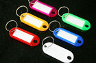 SELECTION of KEY RING TAGS - Assorted - Coloured - Red Blue Green White Yellow