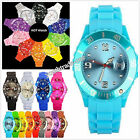 NEW JELLY BOYS GIRLS MENS WOMENS KIDS WRIST WATCH RUBBER SILICONE With Calendar