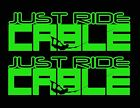 JUST RIDE CABLE DECAL STICKER 2 PACK WAKEBOARD SKATE CABLEPARK WAKE BOARD PARK