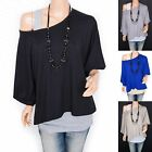 Trendy Contrast 2 Pieces Twinset Short Sleeves Hippie Top Blouse