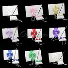 Wedding Satin Guest Book And Pen Set Bridal Bowknot Pearl Reception Coloes Decor