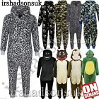 KIDS GIRLS BOYS SOFT & FLUFFY ANIMAL Onesie ALL IN ONE FANCY DRESS PJ'S 2-13Yr