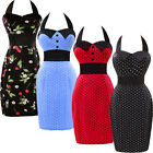 Multi-Style Lady Vintage 1950s Dress Floral Rockabilly Cotton Pencil Retro Dress