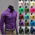 Unique Korean Version Of The Candy-colored Men's Casual Long-sleeved Shirts JG