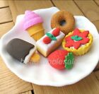 Dessert Cake Pencil Eraser Set  Assorted Party Favor Supply Bag Prize
