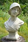 "Female Bust Statue frost proof stone garden ornament 51cm/20"" H  ""Gabrielle"""
