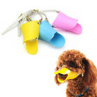 Pet Dog Soft Silicone Duck Mouth Muzzle Adjustable Safety Mask Cage Muzzle L / M