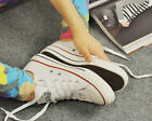 Womens Fashion Lace Up Flat Canvas Sneaker Athletic Running Cross Casual Shoes