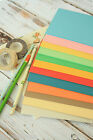 25pc VINTAGE SERIES recycled blank DIY COLOUR postcards scrapbooking cardstock