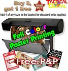 A3 Full Colour Poster Printing High Quality Print - Gloss or Satin 200gsm paper