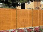 GARDEN FENCING Professional Lap Panel 1.8m 6ft Fence Treated Brown ~SALE~