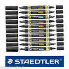 BLACK Staedtler Twin Tip Lumocolor Gaffer PERMANENT MARKER pens 1,2,3,6, or 10