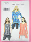 Vogue V8976 Sewing Pattern - Misses' Pullover Tunic Top - Very Easy