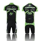 Cycling Jersey Bike Bicycle Clothing Short Sleeve Suit Short Set Quick Dry Green
