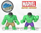 New GIANT HULK Large Toy minifigures Super Heroes [CHOOSE] with FREE Lego Brick!