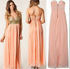 Ladies Attractive  Gown Bridesmaid Prom Dress Wedding Party Dress  CA HF