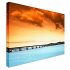 Nice Orange sunset at Dundee, Scotland Canvas Art Cheap Wall Print Any Size
