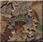 Light Switch Plate Cover - Autumn leaves - Nature leaf tree bough branch deco