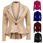 Classic Women Office Business Formal Party One Button Coats Blazers Jackets Tops