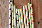 25pc Paper Straws Love HEARTS cute colorful vintage retro style kawaii partyware