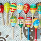 On Sale Wooden Maraca Wood Rattles Kid Musical Party Baby Shaker Toy RSUK