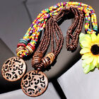 HOT Coconut Shell Brown Carved Lucky Cloud Pendant Necklace More Colors Options