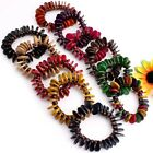 Handmade Coconut Shell Round Beads Stretch Bangle Bracelet More Colors Options