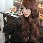Fashion Womens Sexy Long Wig Wavy Curly Hair Cosplay Human Full Wigs Costume