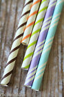 25pc THIN TRIPES Paper Straws kawaii partyware eco friendly vintage retro style