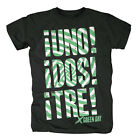 GREEN DAY - UNO DOS TRE (GREEN SWIRL) - OFFICIAL MENS T SHIRT