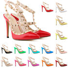 WOMENS LADIES HIGH STILETTO HEEL PARTY WEDDING COURT SHOES FXC302-5 SIZE UK 2-9
