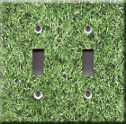 Light Switch Plate Cover - Synthetic turf surface faux finish - Football field
