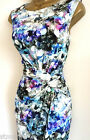 PHASE EIGHT SEQUIN PRINT DRESS BODYCON PENCIL SHIFT BLUE IVORY BLACK SZ 8 - 20