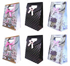 15pcs Paper Foldable Gift Bags Wedding Party Jewellery 12x16x6cm Cardboard