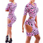 Women Sexy Hollow Bodycon Bandage Night Club Wear Dress Cocktail Evening Party