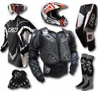 ADULT MOTOCROSS HELMET+GOGGLES+JERSEY+PANTS+GLOVES+BODY ARMOUR-Dirt Bike Gear/MX