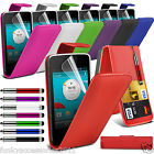 Vodafone Smart 4 Mini PU Leather Top Flip Phone Case Skin Cover Pen+Film+Pen